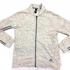 Adidas Full Zip Fleece Warm Up Track Jacket M